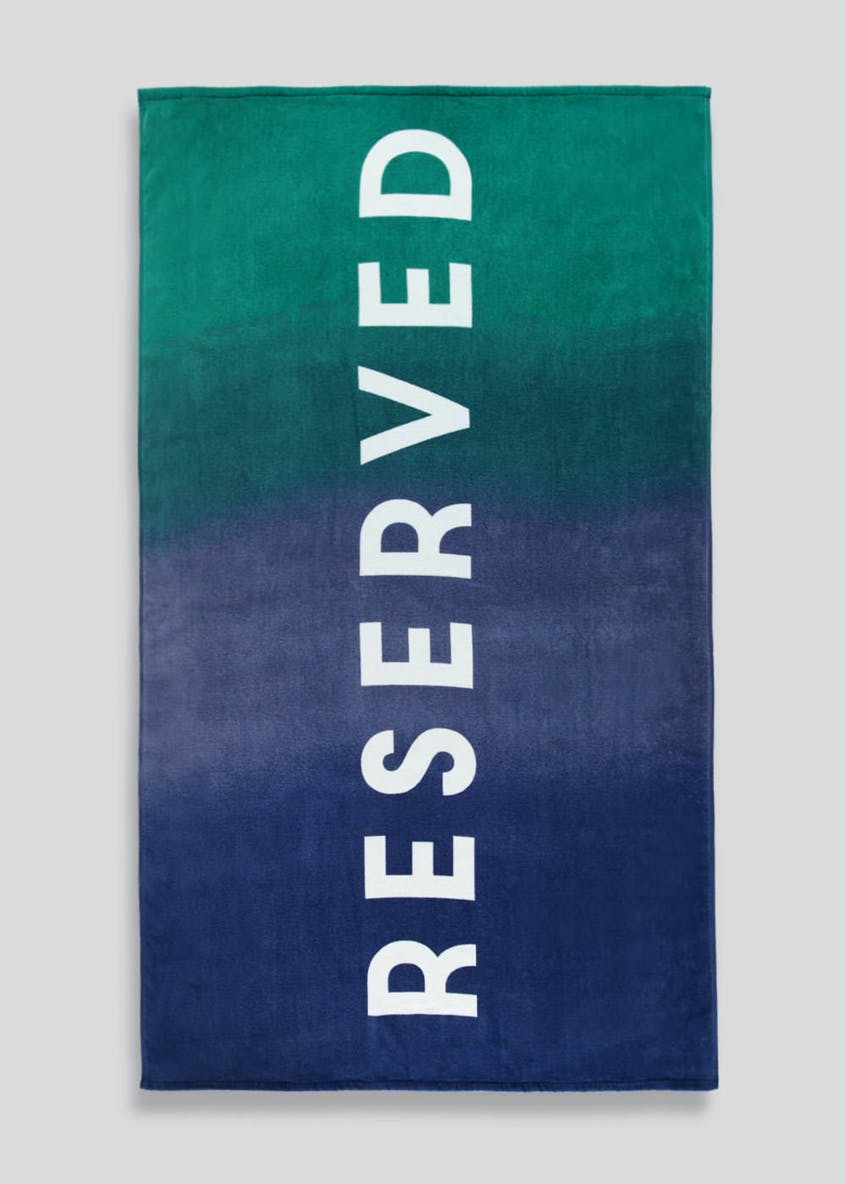 Large Reserved Slogan Beach Towel (180cm x 100cm)