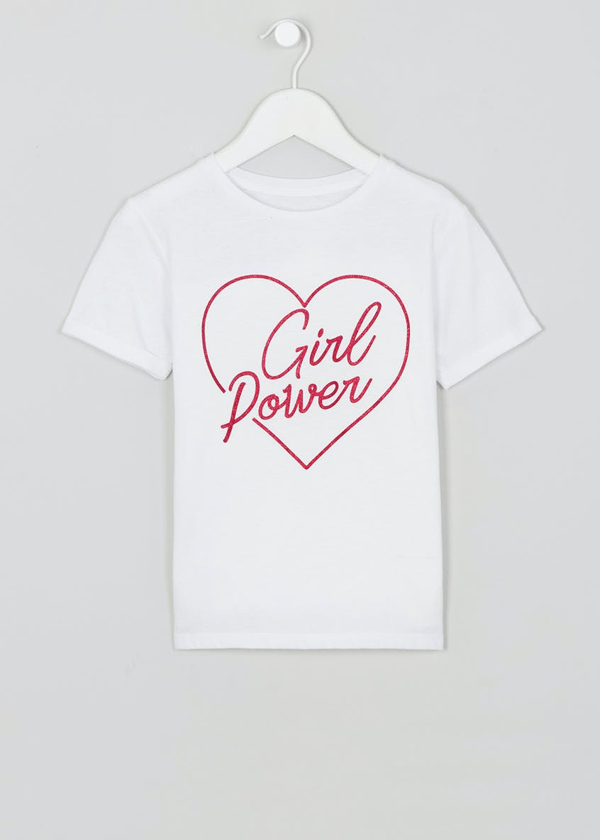 Girl Power Slogan T-Shirt (9mths-10yrs)