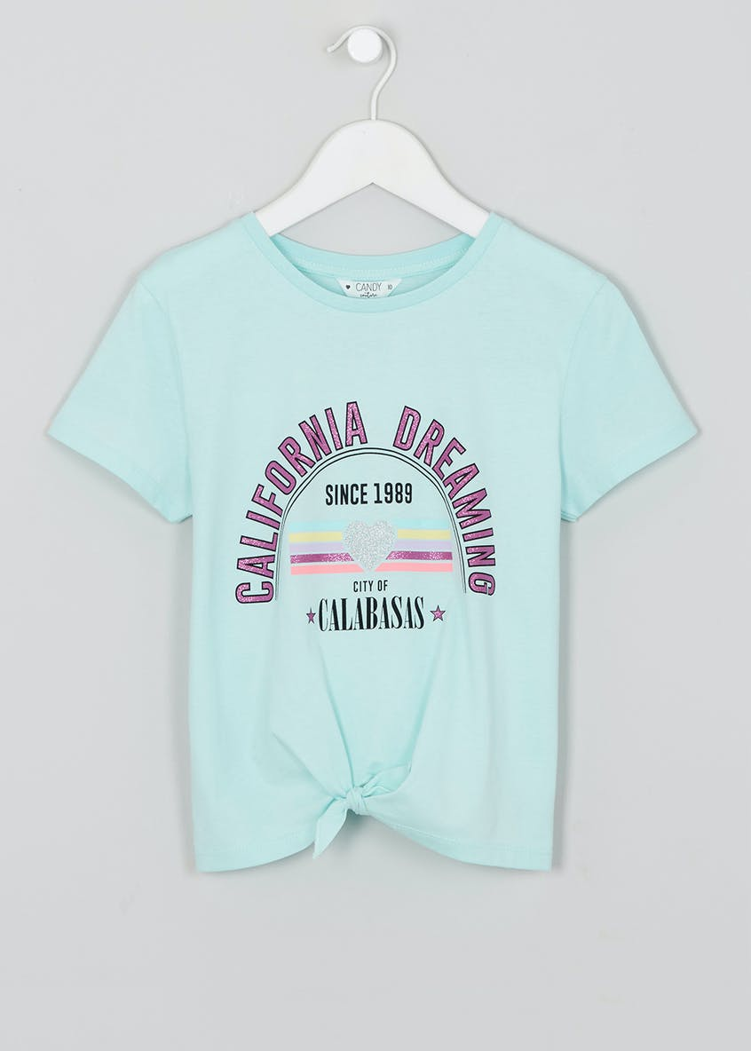 Girls Candy Couture California Slogan T-Shirt (9-16yrs)