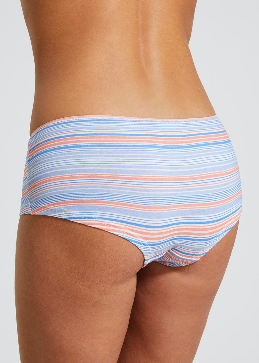 5 Pack Stripe Short Knickers