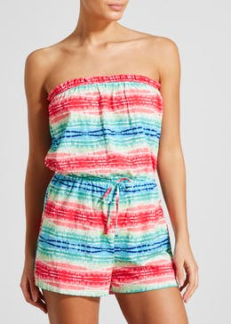 Stripe Bandeau Playsuit