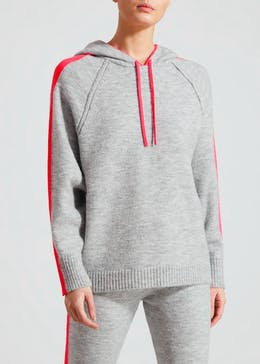 Neon Stripe Soft Touch Knitted Hoodie