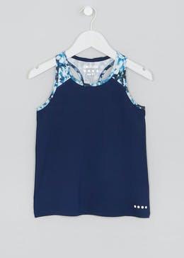 Girls Souluxe Printed Sports Vest (4-13yrs)