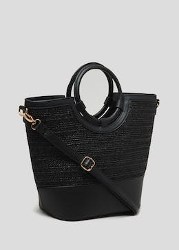 Weave Ring Handle Bag