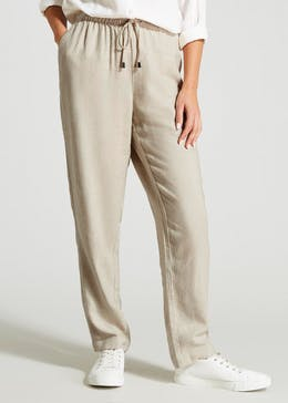 eeb8c0ee423c7 Tapered Linen Trousers