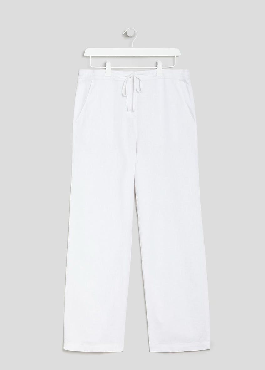 Wide Leg Linen Trousers