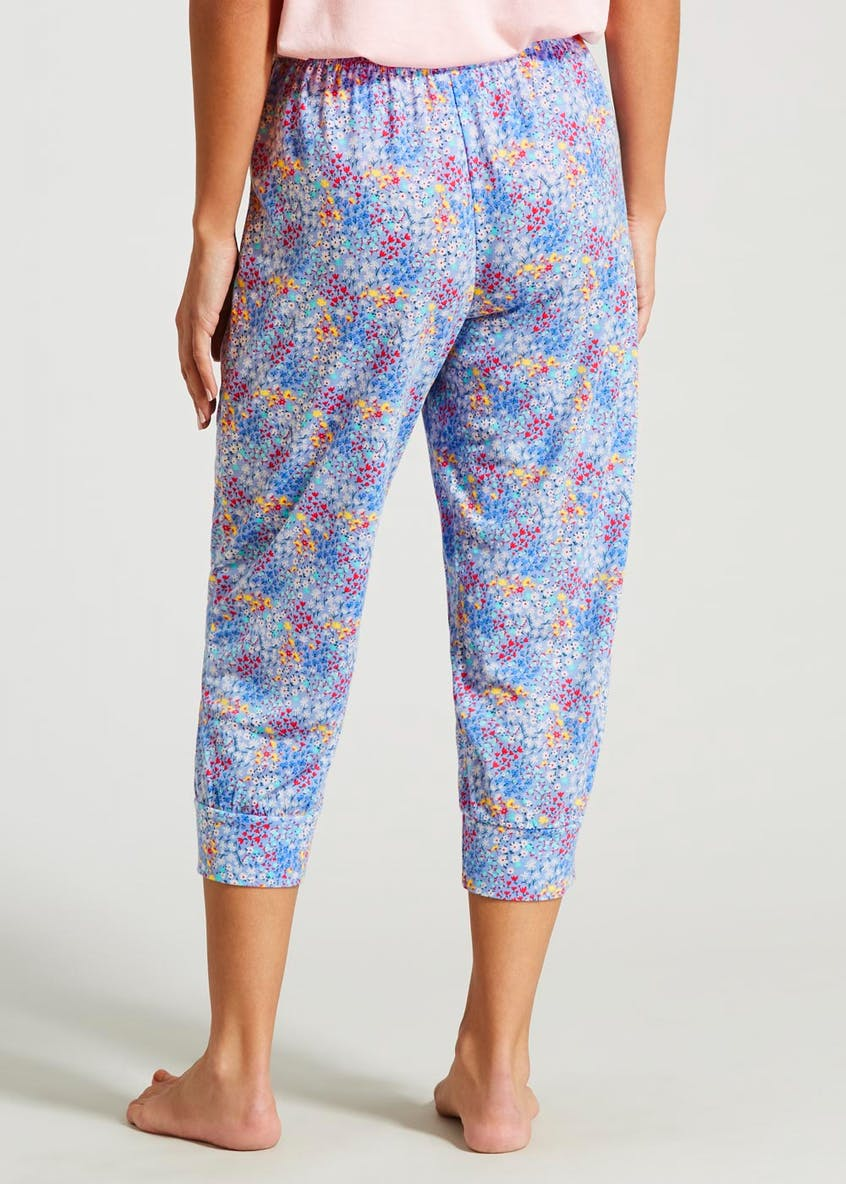 Floral Cuffed Cropped Pyjama Bottoms