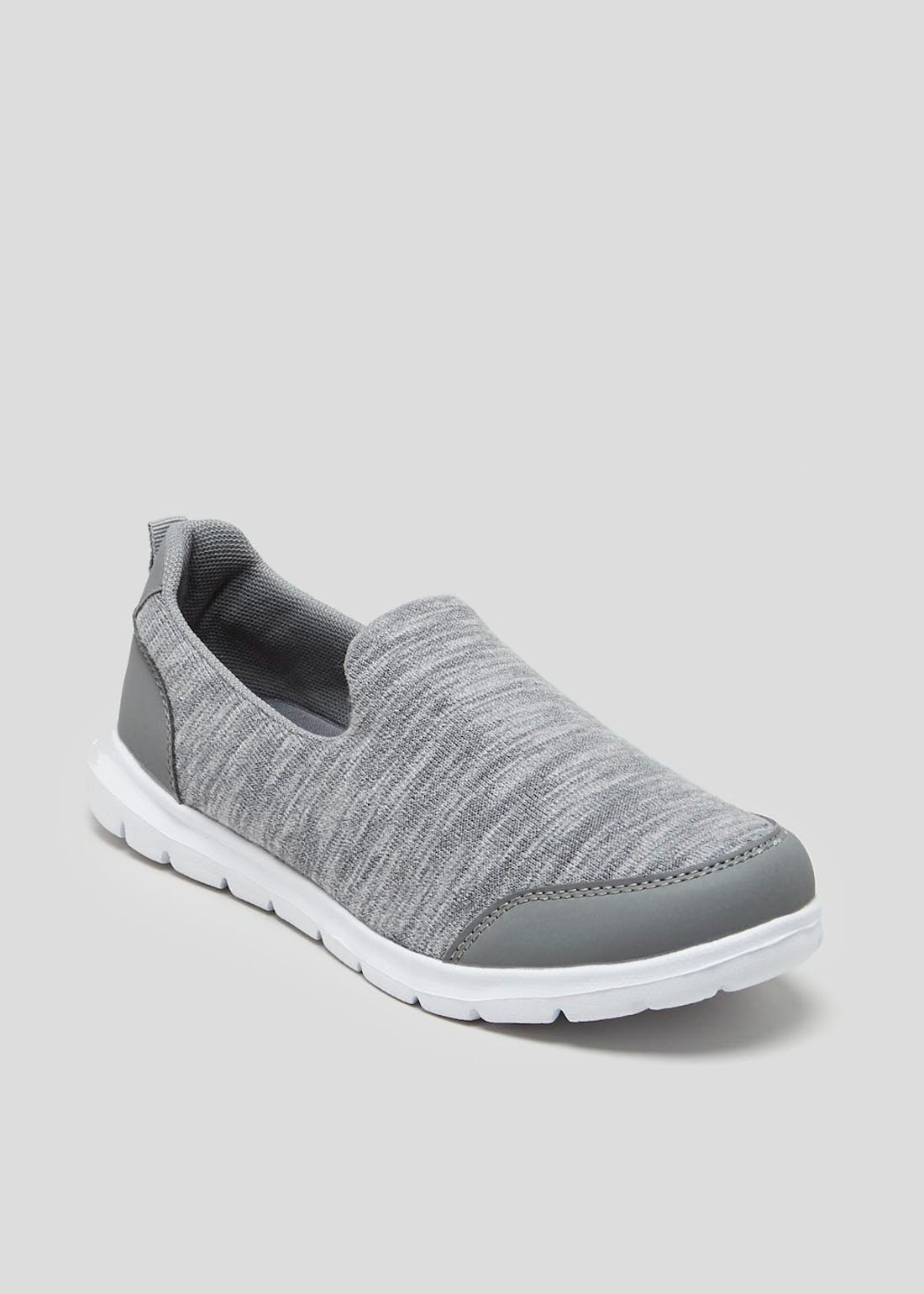 Grey Memory Foam Slip On Pumps