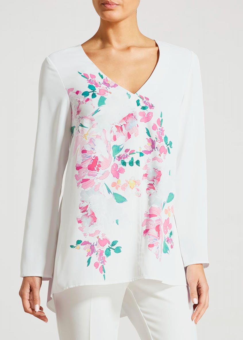 FWM Floral Split Back Blouse