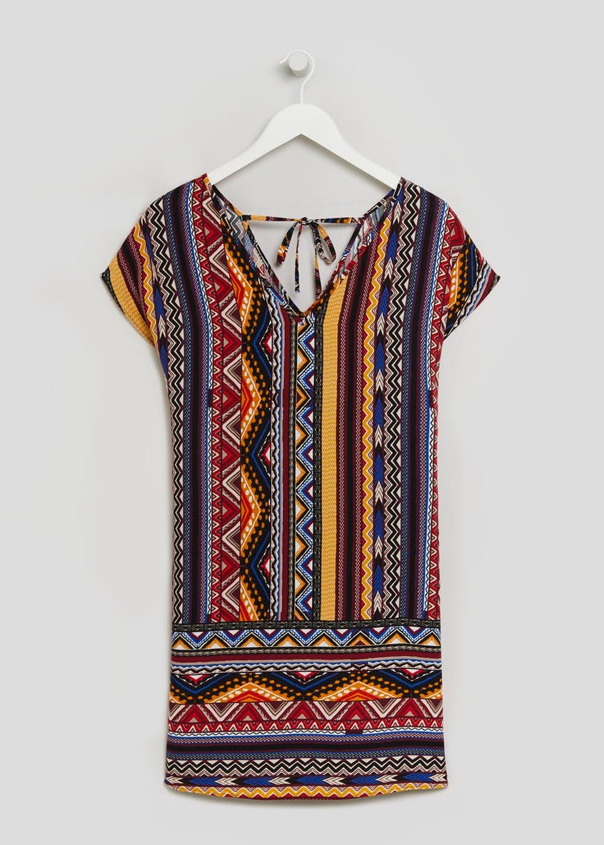 Aztec Viscose Tunic Dress