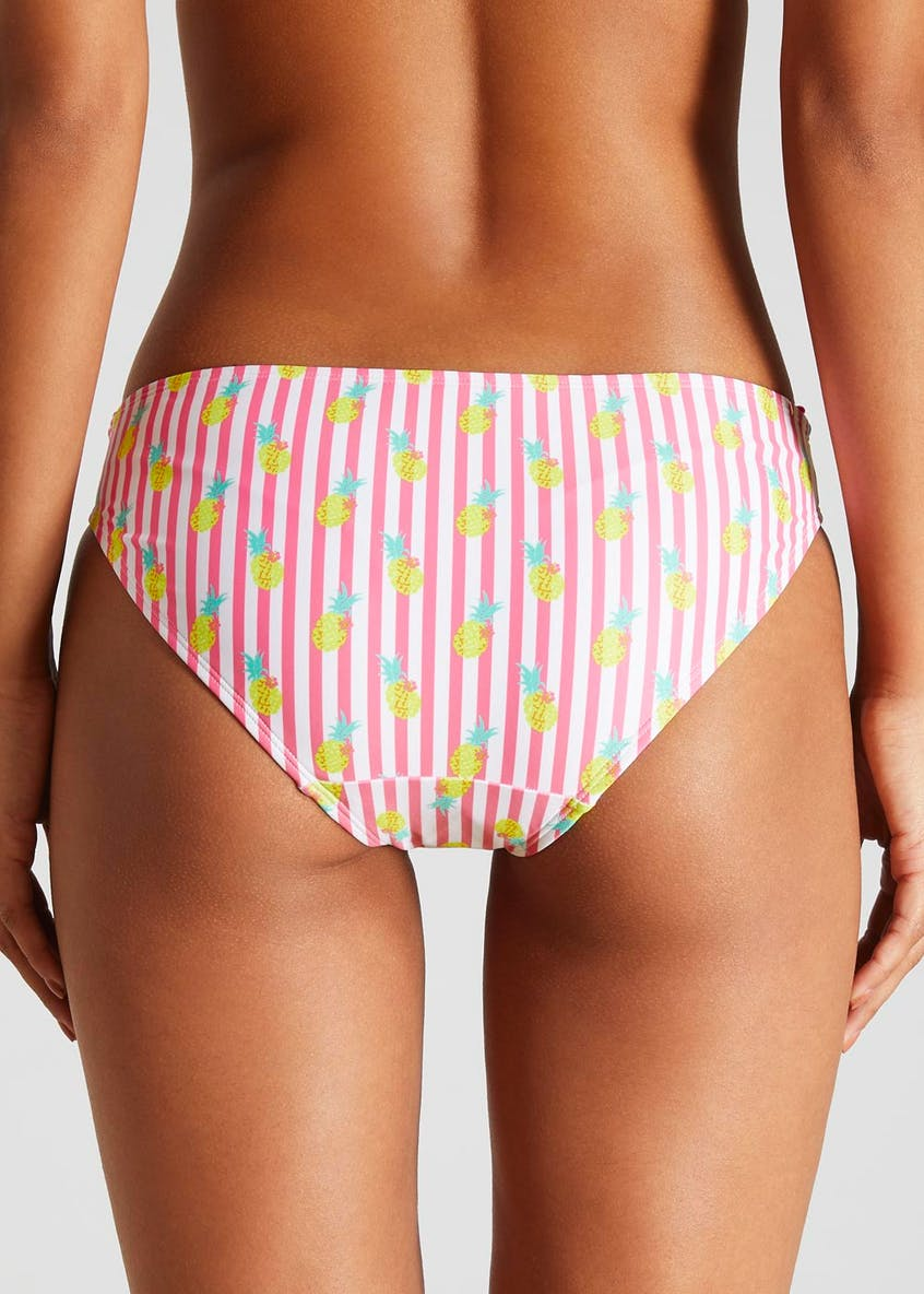Stripe Pineapple Frill Bikini Bottoms
