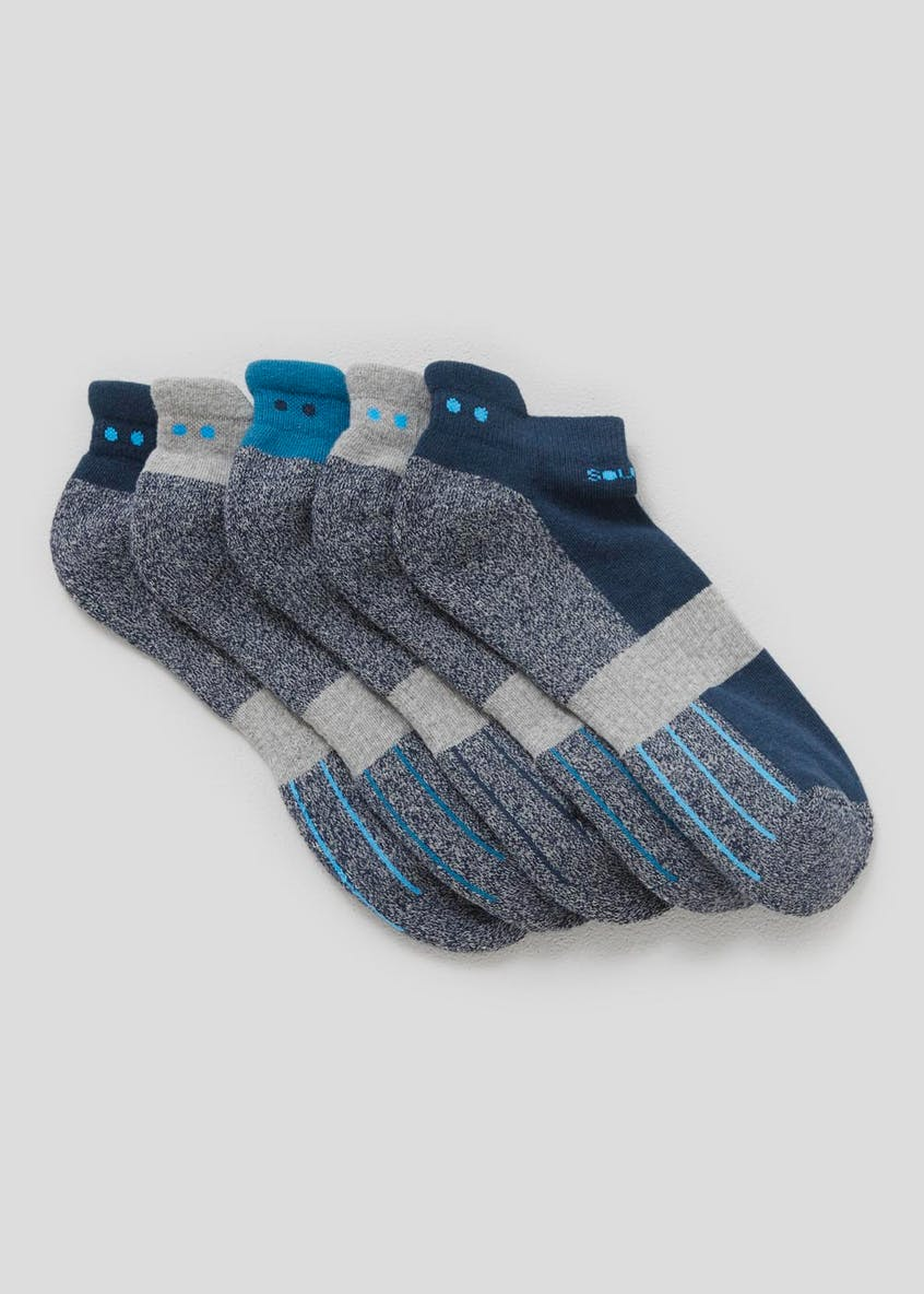 Souluxe 5 Pack Trainer Socks