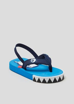 Kids Shark Flip Flops (Younger 4-12)