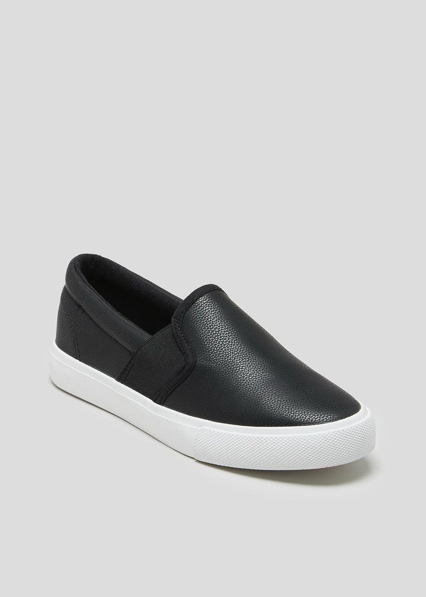 Black Slip On Pumps
