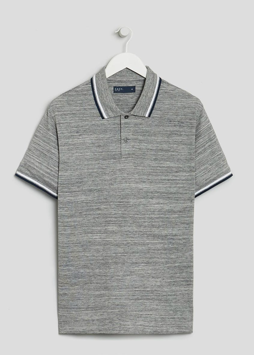 Big & Tall Textured Tipped Polo Shirt