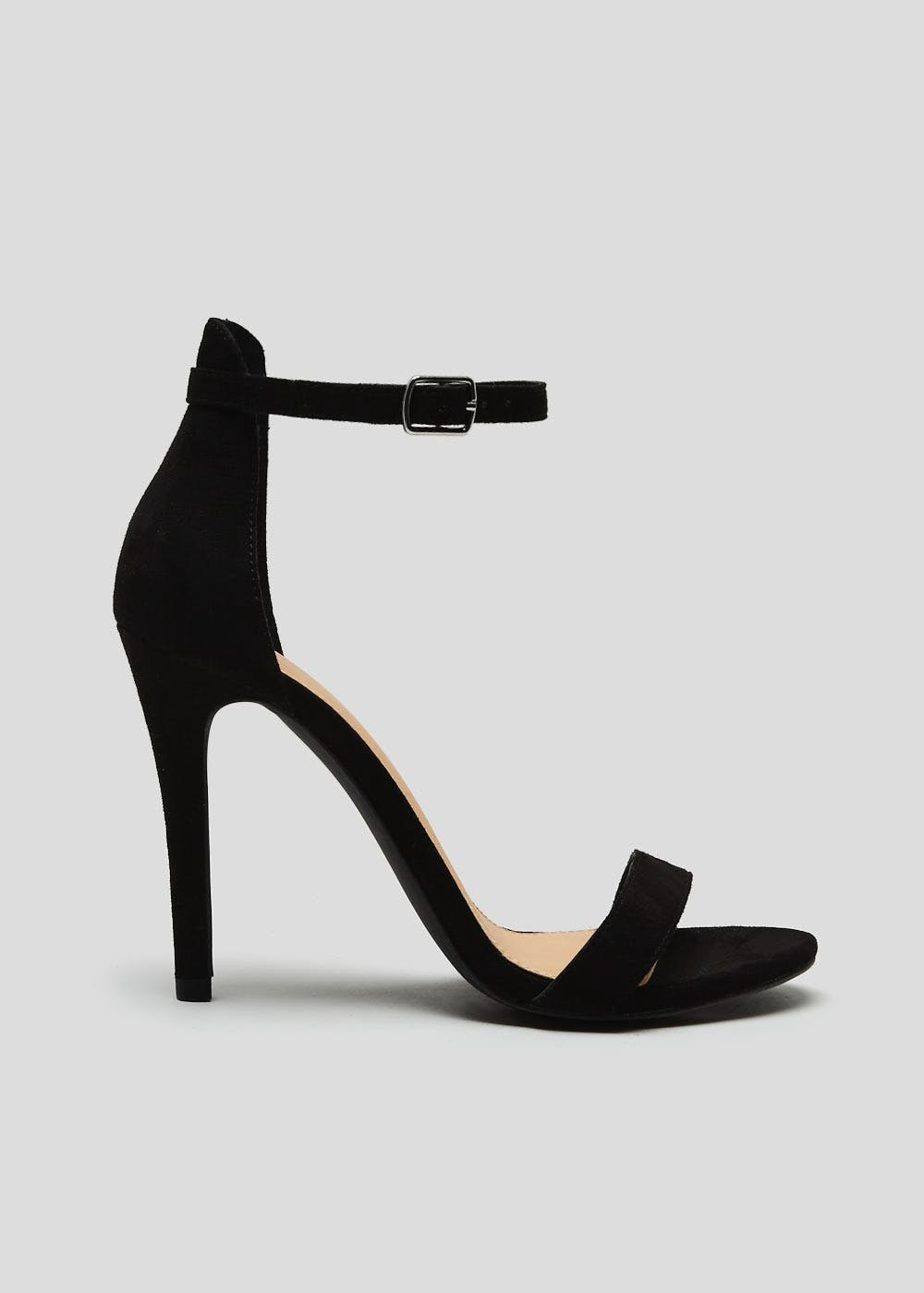 Barely There Strappy Heels – Black