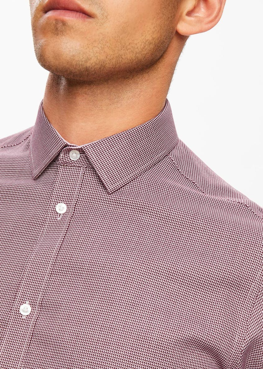 100% Cotton Slim Fit Geometric Shirt