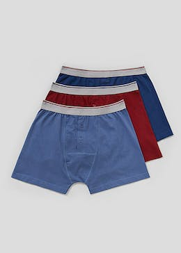 3 Pack Button Front Boxers