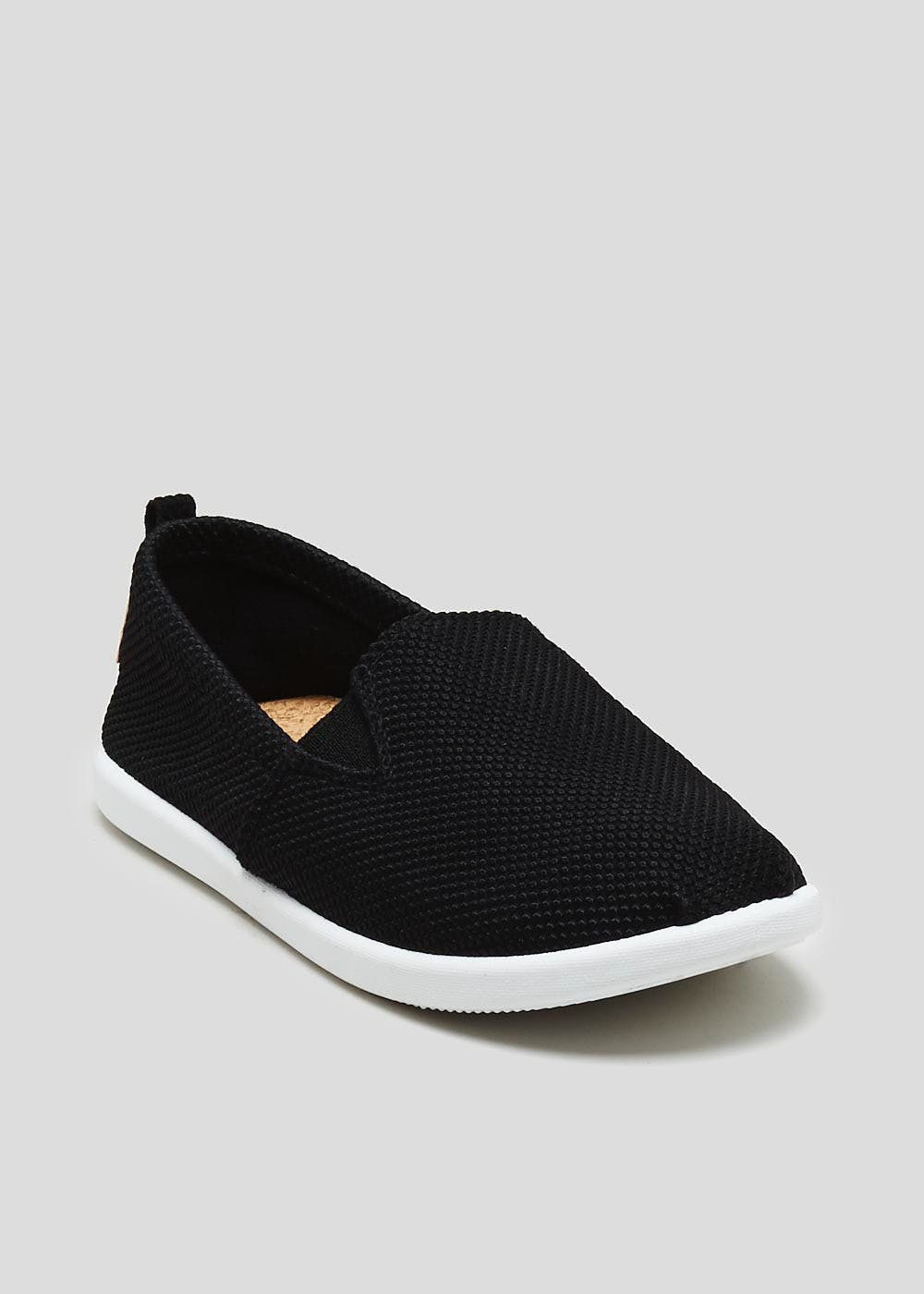 83f472d37b5 Kids Slip On Canvas Pumps (Younger 10-Older 6) – Black – Matalan