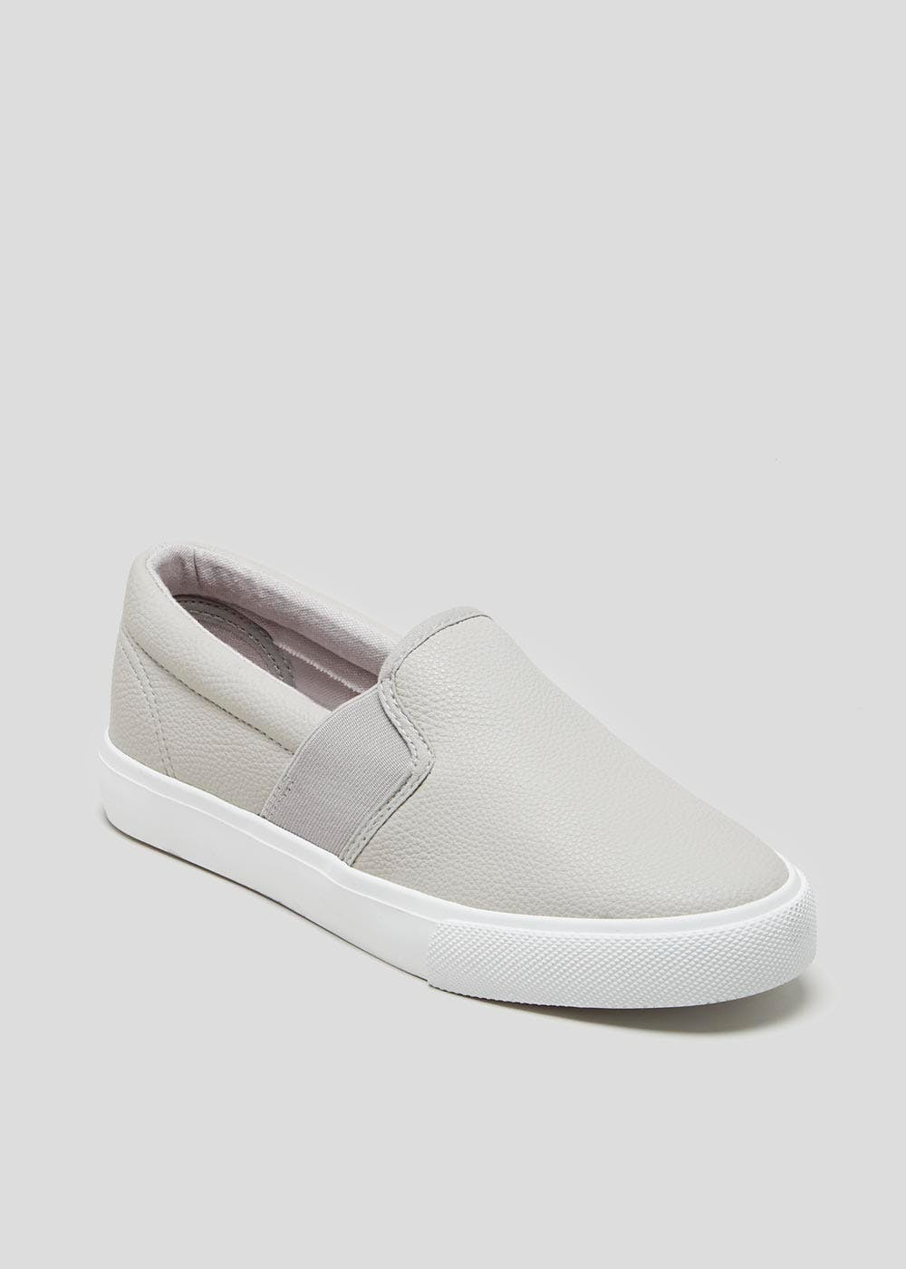 11c9e01a61d Slip On Canvas Pumps – Grey – Matalan