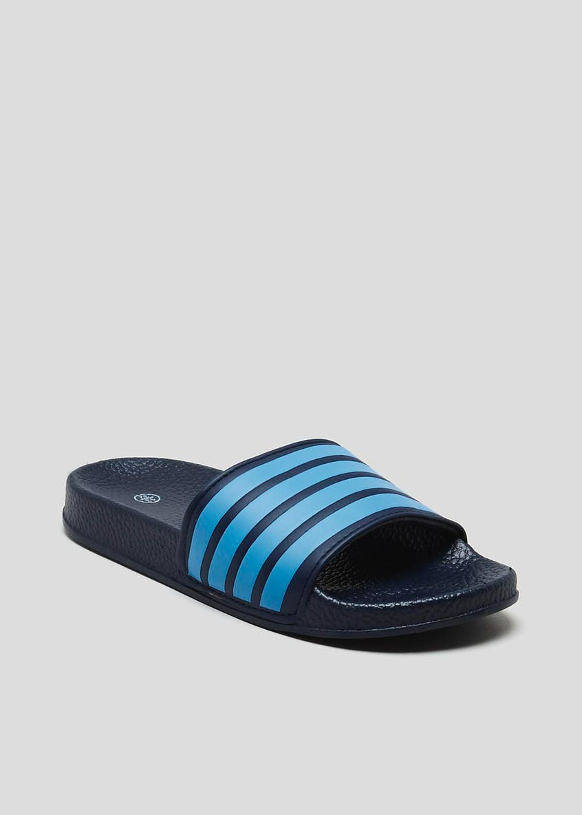 Kids Stripe Sliders (Younger 10-Older 6)