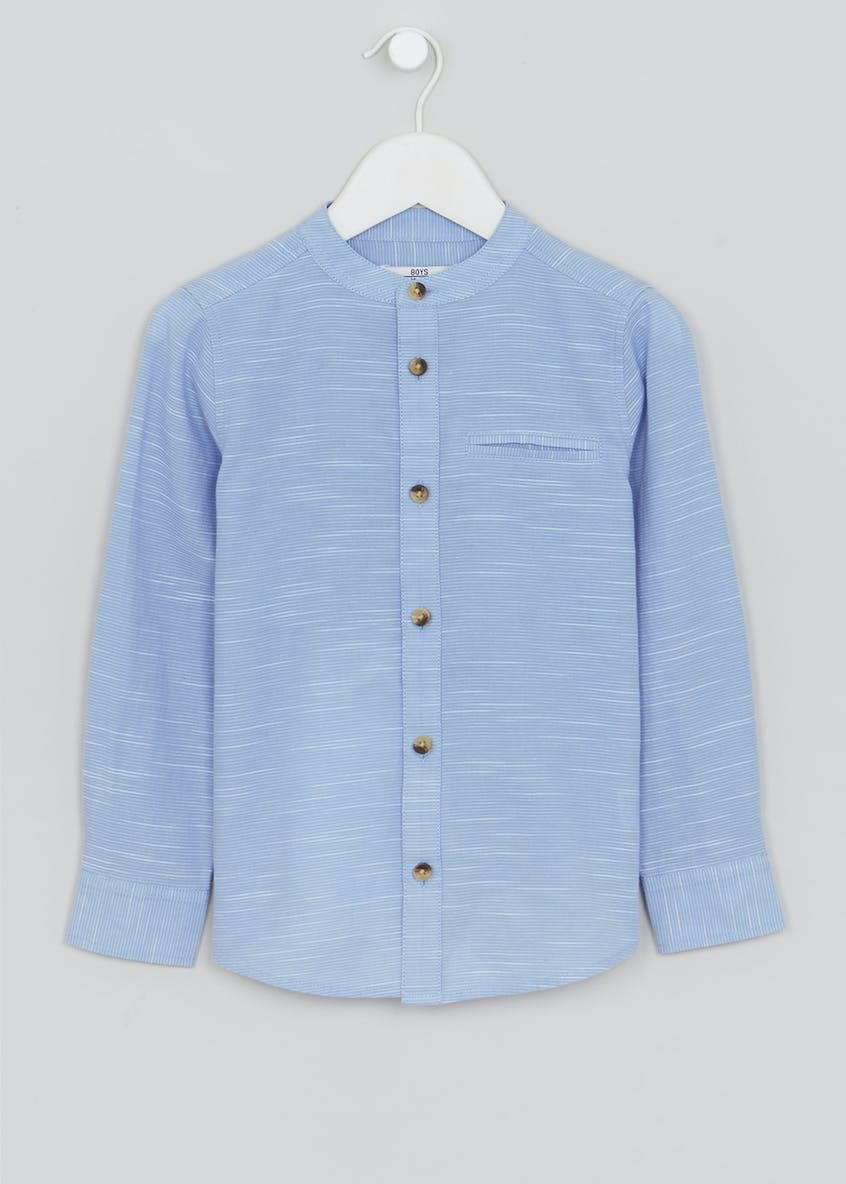 Boys Grandad Neck Shirt (4-13yrs)