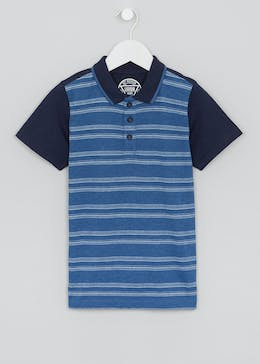 Boys Stripe Jacquard Polo Shirt (4-13yrs)