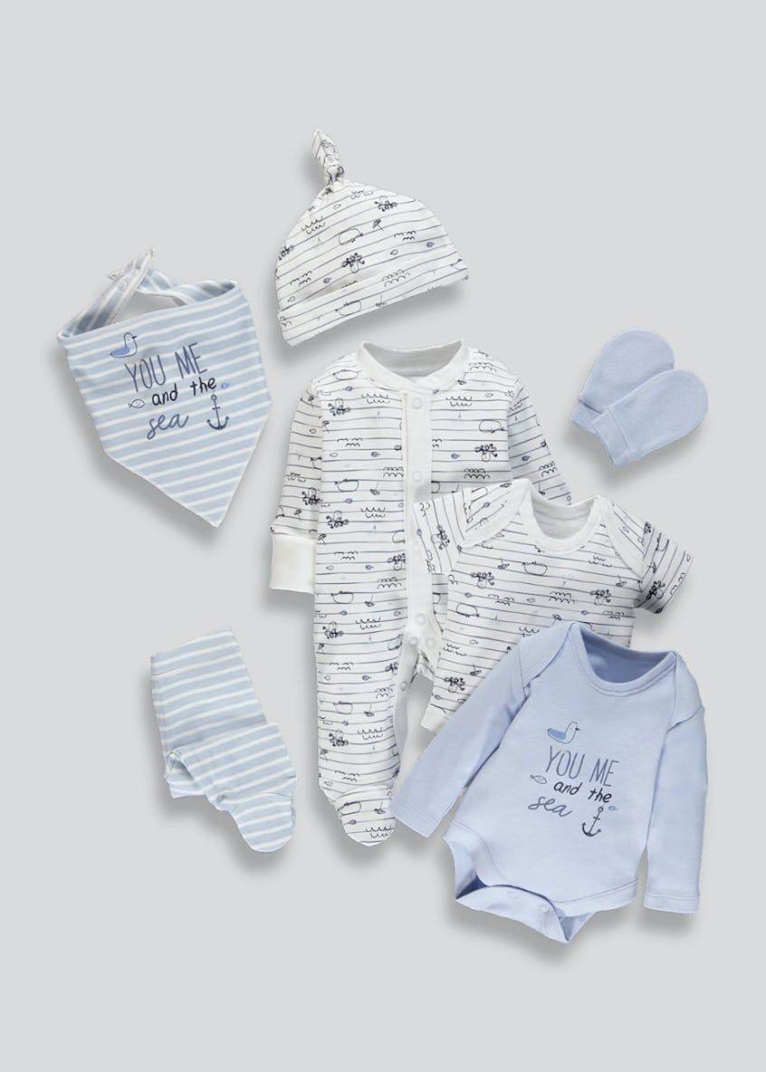 Boys 7 Piece Set (Tiny Baby-9mths)