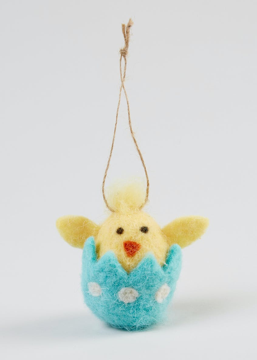 Easter Chick Decoration (7cm x 6cm)
