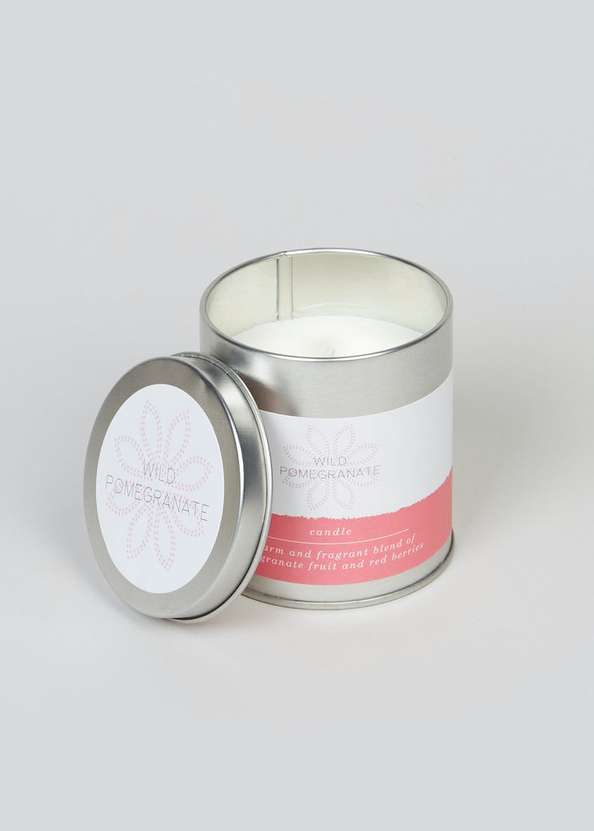 Wild Pomegranate Fragranced Candle Tin (8cm x 7cm x 7cm)