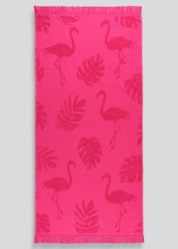 Flamingo Hammam Beach Towel (138cm x 70cm)