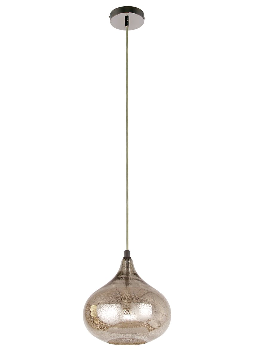 Mercury Glass Pendant Light (H30-100cm x W25cm)