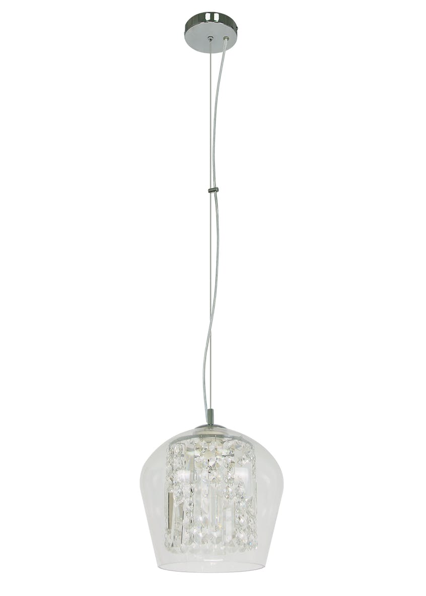 Ivy Glass Droplet Pendant Light (H35-130cm x W25.5cm)