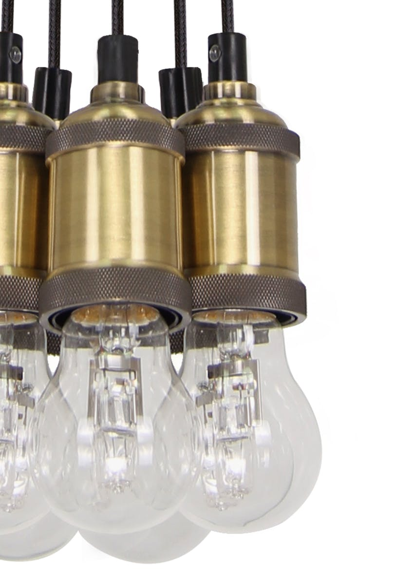 Logan Brass Cluster Light (H18-95cm x W15cm)