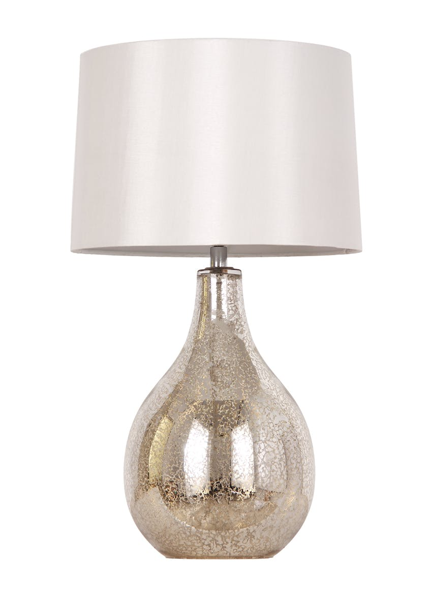 Nora Mercury Glass Table Lamp (H46cm x W27cm)