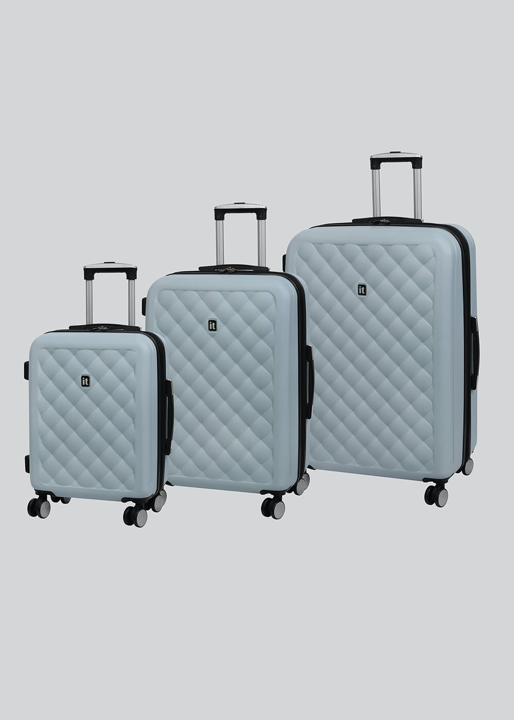 0d293af50 IT Luggage Cushion Lux Suitcase – Blue – Matalan