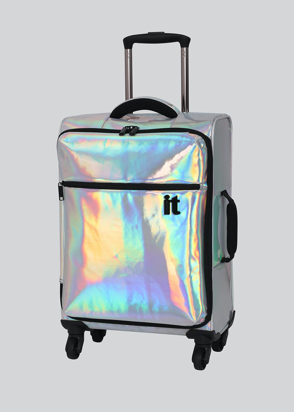 975943d68 IT Luggage Holographic Suitcase – Silver – Matalan
