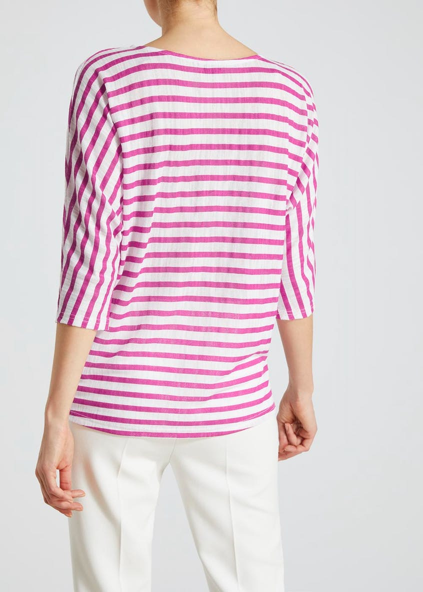 Soon Textured Stripe Jersey Top