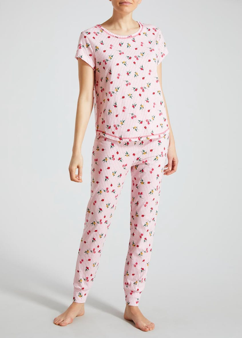 Floral Stripe Pyjama Set