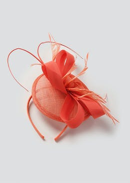 Orange Bow Fascinator
