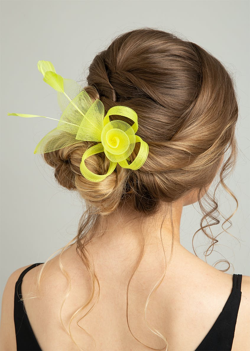 Lime Loop Fascinator Hair Clip