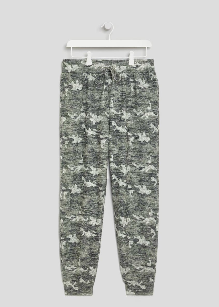 Soft Touch Camo Cuffed Jogging Bottoms