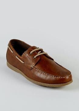 Real Leather Boat Shoes
