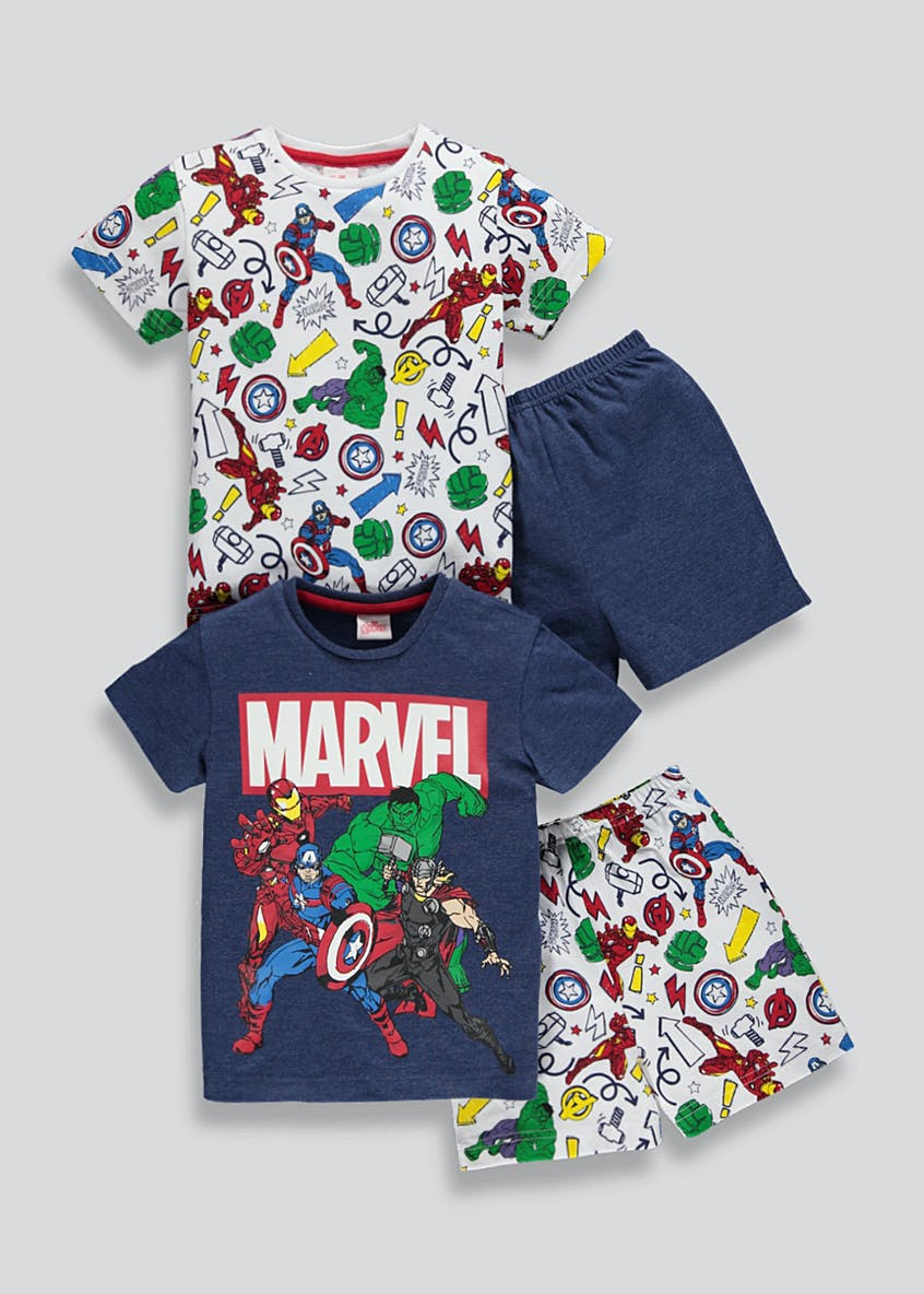 Kids Marvel Avengers Short Pyjama Set (2-9yrs)
