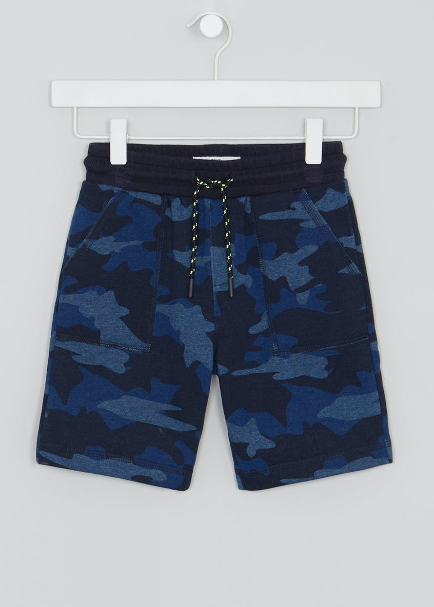 Boys Camo Jersey Denim Shorts (4-13yrs)