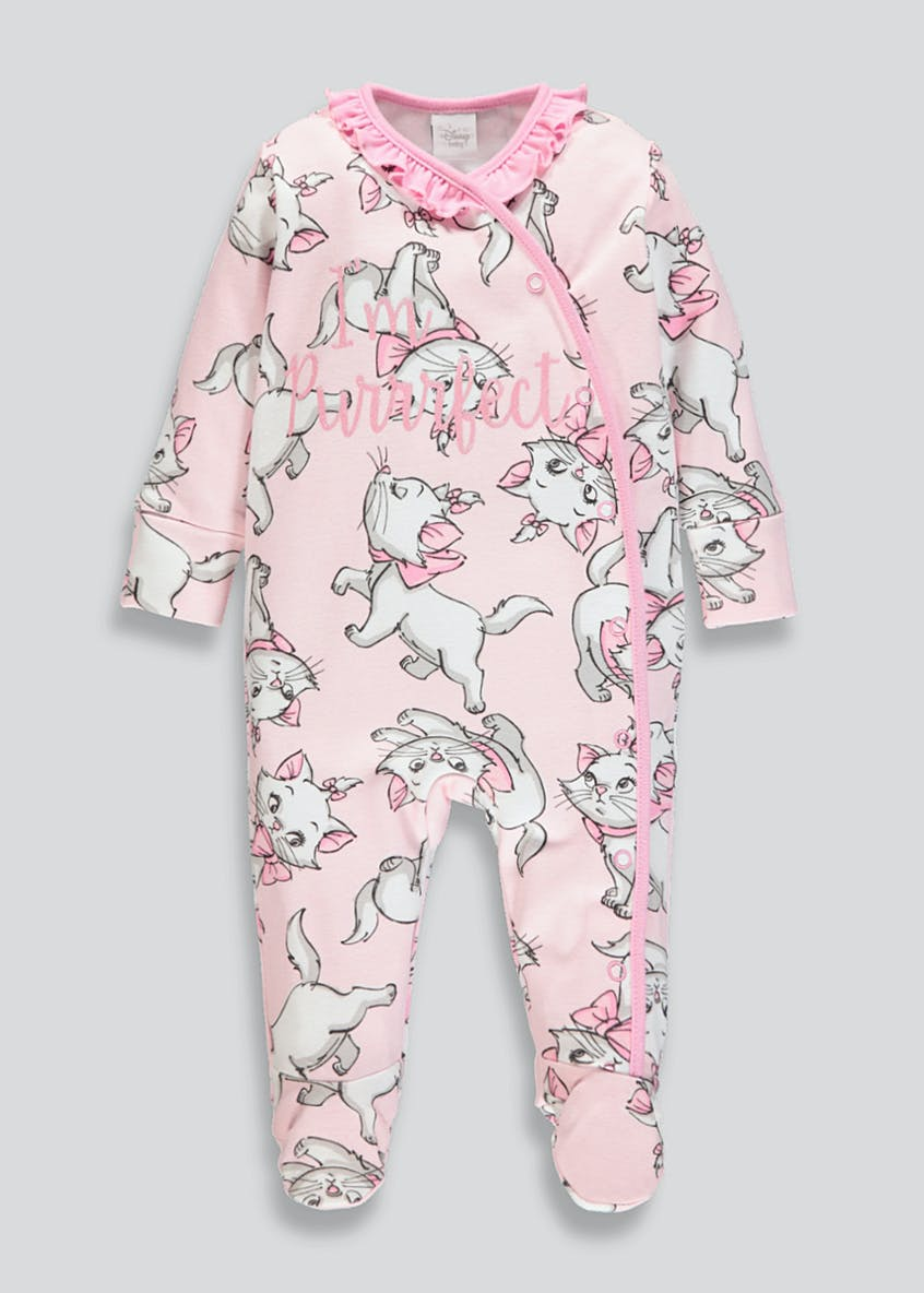 Girls Disney Marie Baby Grow (Newborn-12mths)