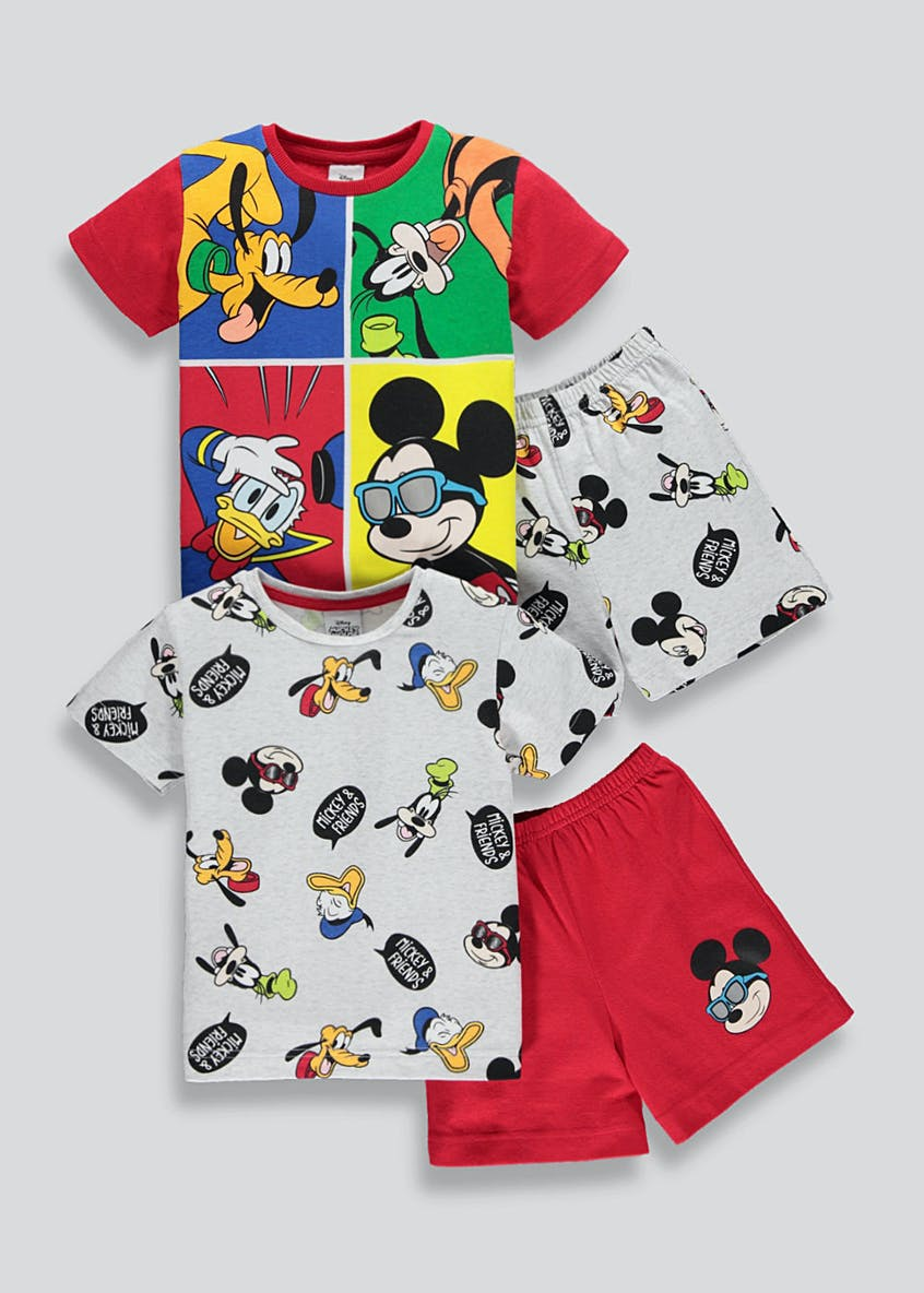 Boys 2 Pack Mickey Mouse Pyjamas (9mths-6yrs)
