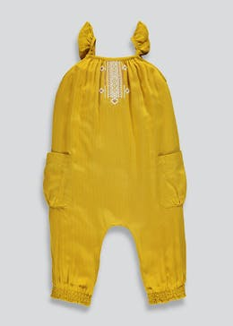 Girls Woven Embroidered Jumpsuit (9mths-6yrs)