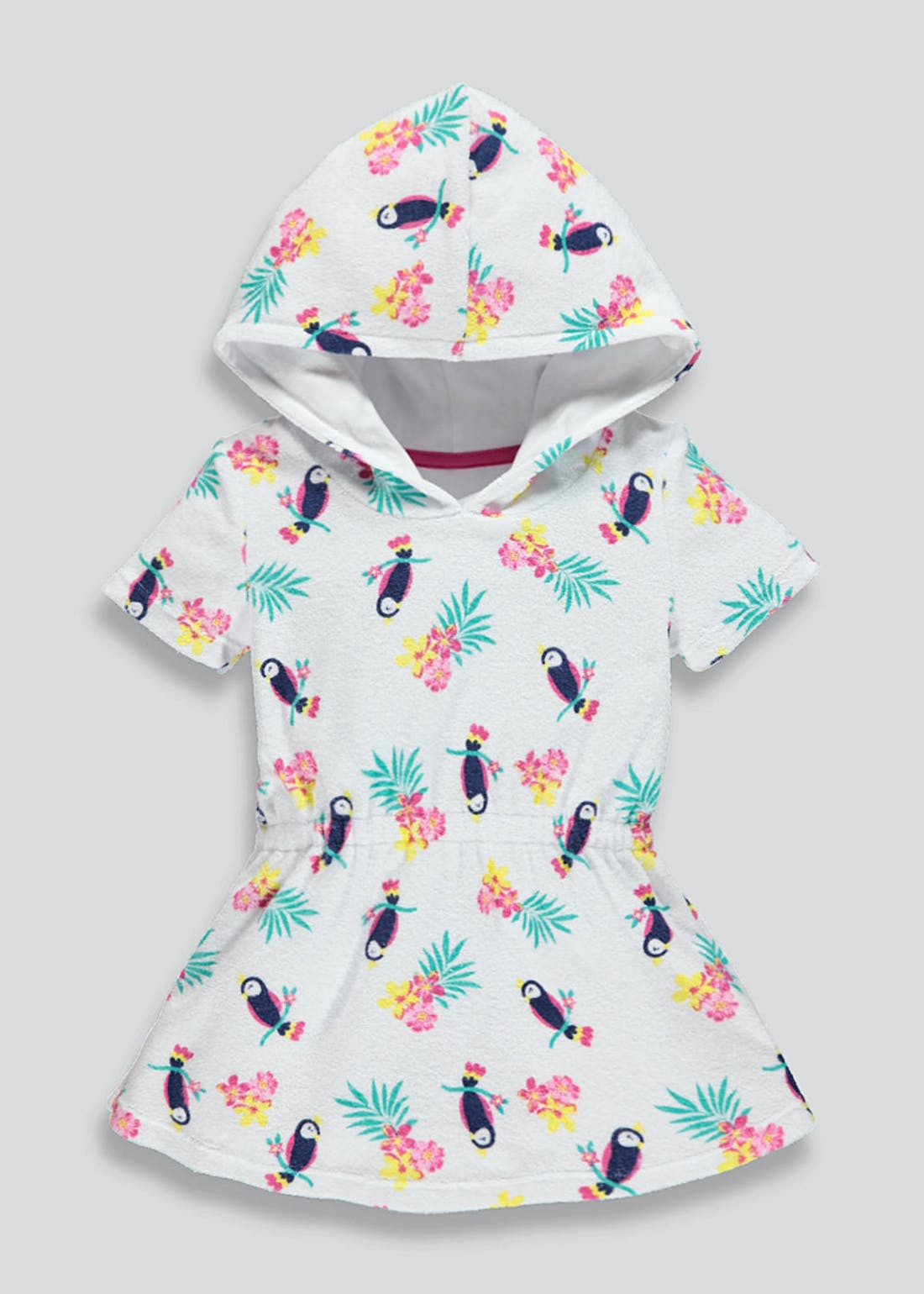 Girls Toucan Hooded Towelling Dress (9mths-6yrs)