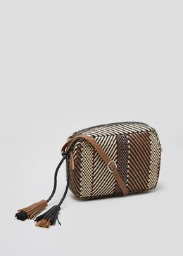 8215bf8202eb Textured Stripe Cross Body Bag